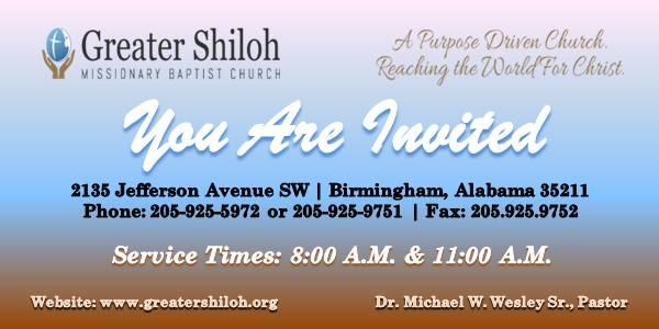 Sunday Worship Evite